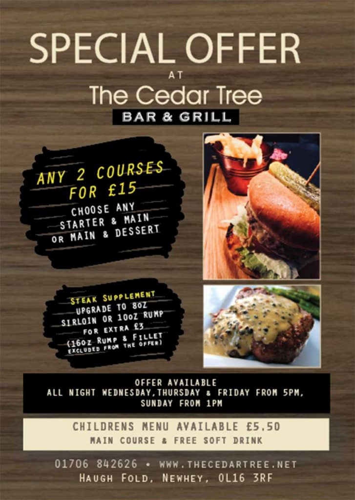 Cedar Tree Midweek deals